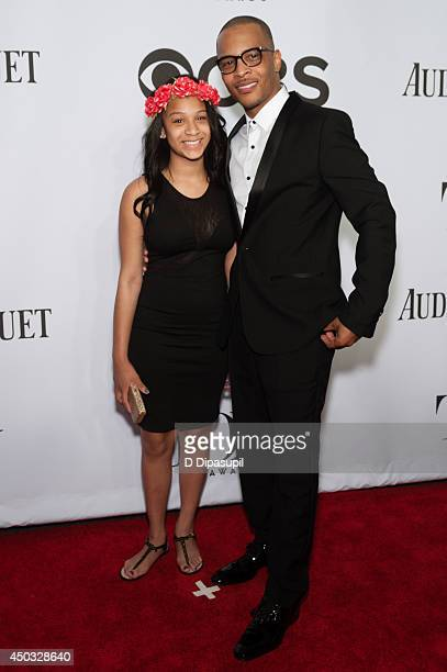 Deyjah Imani Harris and TI attend the American Theatre Wing's 68th Annual Tony Awards at Radio City Music Hall on June 8 2014 in New York City