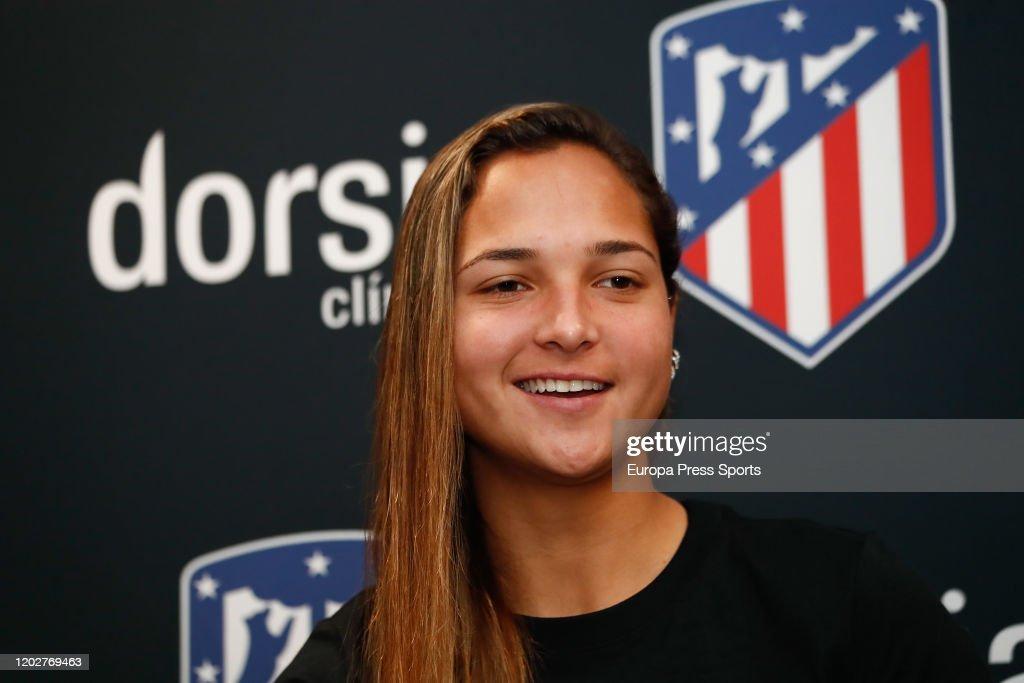 Clinicas Dorsia Presentated As Sponsor Of Atletico De Madrid Femenino : News Photo
