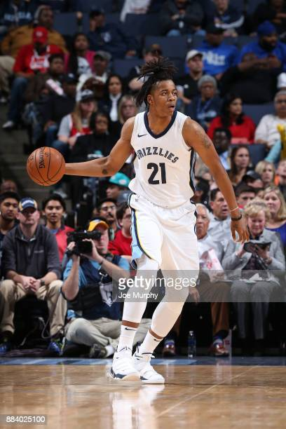 Deyonta Davis of the Memphis Grizzlies handles the ball against the San Antonio Spurs on December 1 2017 at FedExForum in Memphis Tennessee NOTE TO...