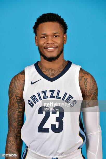 Deyonta Davis of the Memphis Grizzlies poses for a head shot during Memphis Grizzlies Media Day on September 25 2017 at FedExForum in Memphis...