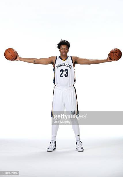 Deyonta Davis of the Memphis Grizzlies poses for a portrait during Memphis Grizzlies Media Day on September 26 2015 at FedExForum in Memphis...