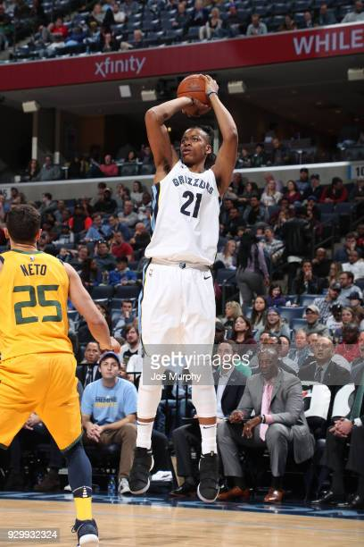 Deyonta Davis of the Memphis Grizzlies shoots the ball against the Utah Jazz on March 9 2018 at FedExForum in Memphis Tennessee NOTE TO USER User...