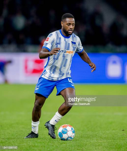 Deyovaisio Zeefuik of Hertha in action during the Bundesliga match between Hertha BSC and SpVgg Greuther Fürth at Olympiastadion on September 17,...