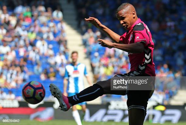Deyverson during the match between RCD Espanyol and Deportivo Alaves on April 08 2017