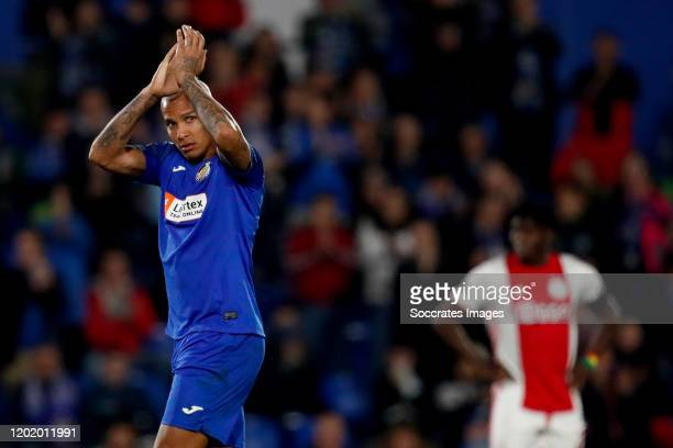 Deyverson of Getafe during the UEFA Europa League match between Getafe v Ajax at the Coliseum Alfonso Perez on February 20 2020 in Getafte Spain