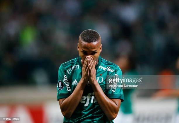 Deyverson of Palmeiras in action during the match between Palmeiras and Barcelona de Guayaquil for the Copa Bridgestone Libertadores 2017 at Allianz...
