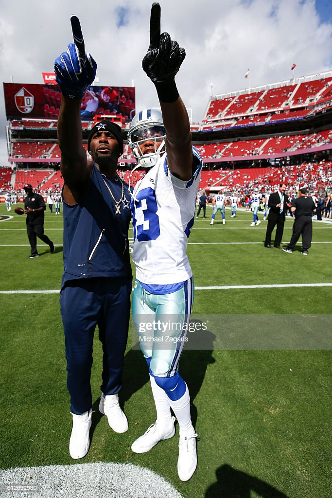 Dez Bryant And Terrance Williams Of The Dallas Cowboys Stand