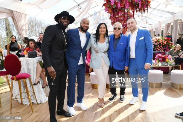 Dez Bryant Juan Perez Roc Nation COO Desiree Perez Robert Kraft and Michael Rubin attend 2020 Roc Nation THE BRUNCH on January 25 2020 in Los Angeles...
