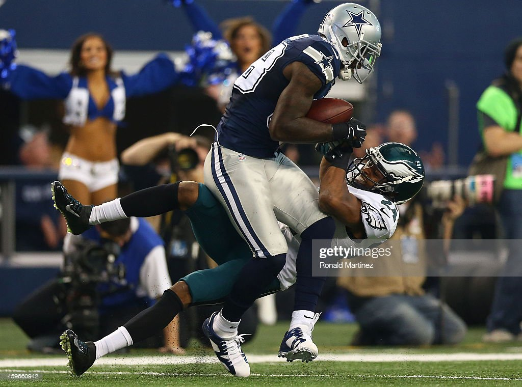 Dez Bryant Of The Dallas Cowboys Makes The Catch As Bradley