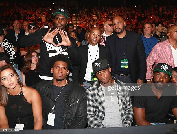 Dez Bryant Tyran 'Ty Ty' Smith Justise Winslow Geno Smith and Jaiquawn Jarrett attend the Roc Nation Sports Miguel Cotto Vs Daniel Geale Fight at...