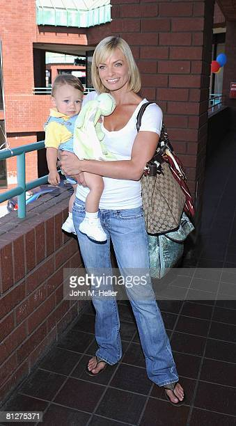 Dezi James and Jamie Presley attend the Playroom's first anniversary benefiting Friends of the Family hosted by Melissa Joan Hart on May 28, 2008 at...