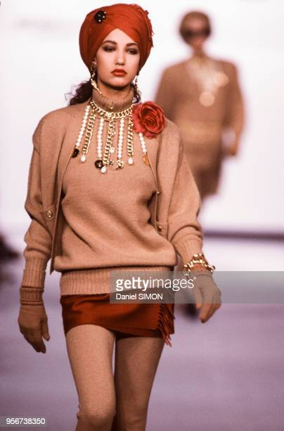 Défilé Chanel en mars 1987 à Paris France