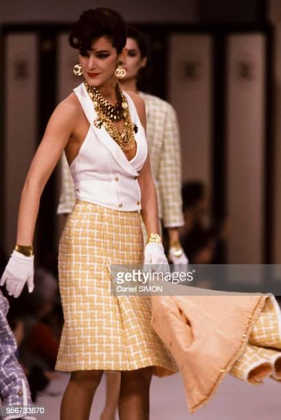 Défilé Chanel en octobre 1982 à Paris France