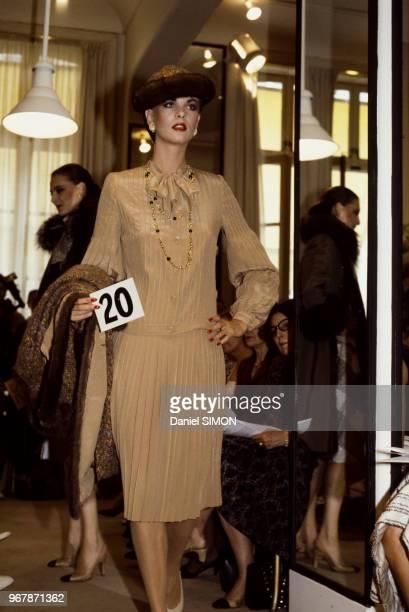 Défilé Chanel le 27 juillet 1982 à Paris France