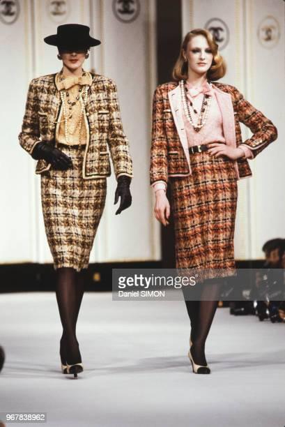 Défilé Chanel PrêtàPorter collection AutomneHiver 83/84 à Paris le 21 mars 1983 France