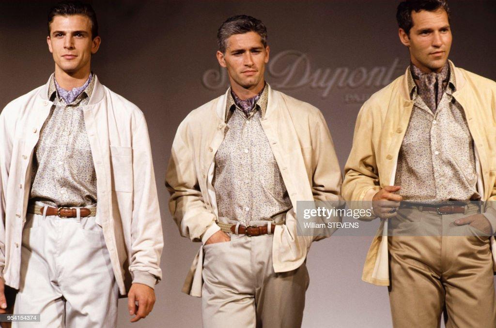 f586ef1eb370b Défilé de mode masculine S.T. Dupont en 1992   News Photo