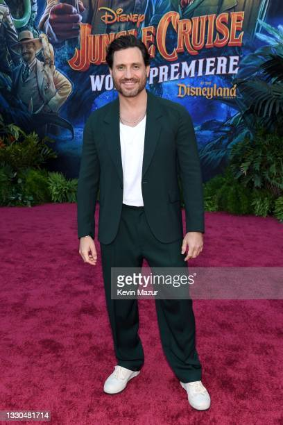 Édgar Ramírez arrives at the world premiere for JUNGLE CRUISE, held at Disneyland in Anaheim, California on July 24, 2021.