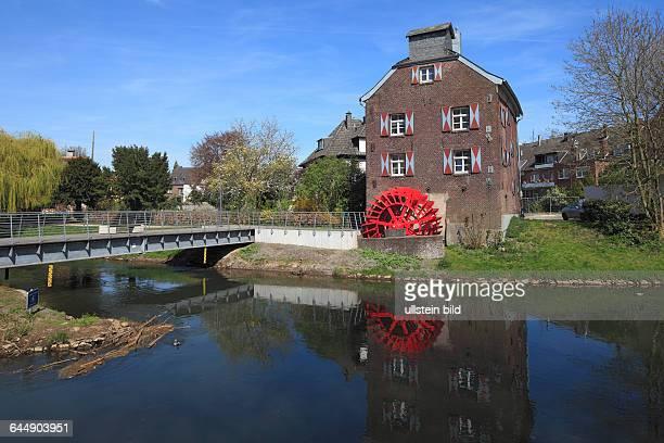 DGoch Niers Lower Rhine Rhineland North RhineWestphalia NRW Sus Mill watermill at the Niers river footbridge