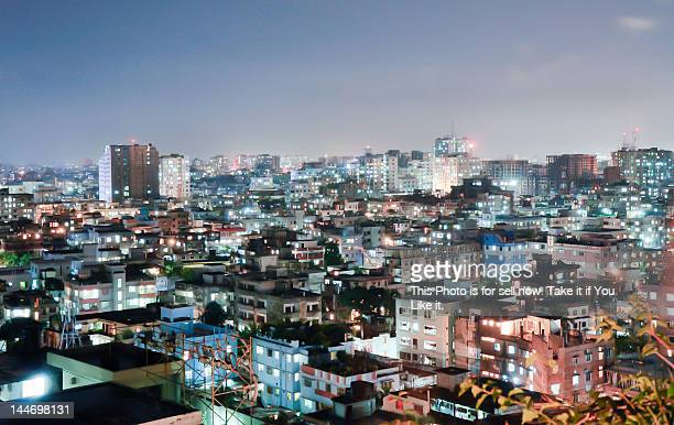 dhaka at night - bangladesh stock pictures, royalty-free photos & images