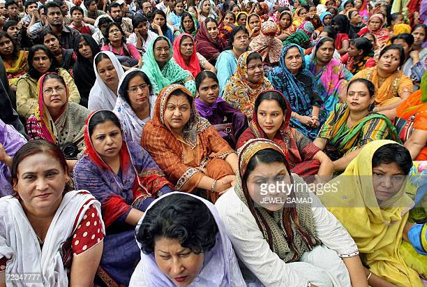 Activists and supporters of fourparty alliance lead by Bangladesh Nationalist Party of former Prime Minister Khaleda Zia take part in a demonstration...
