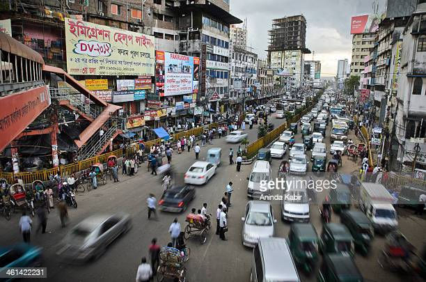 Dhaka, Bangladesh has one of the worst traffic system. Here is a glimpse of relatively light morning traffic at Maghbazar, Dhaka.