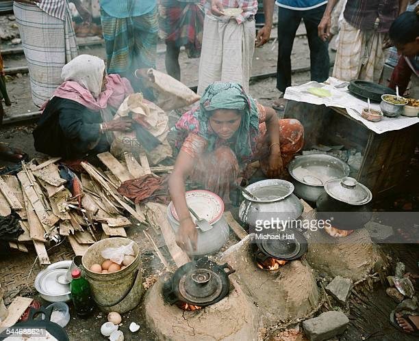 dhaka food stall - bangladesh foto e immagini stock