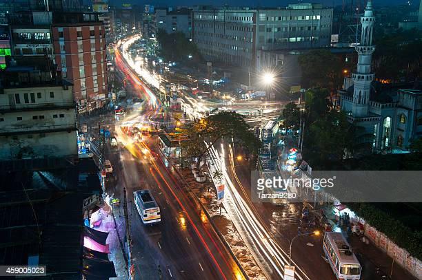 Dhaka street at night