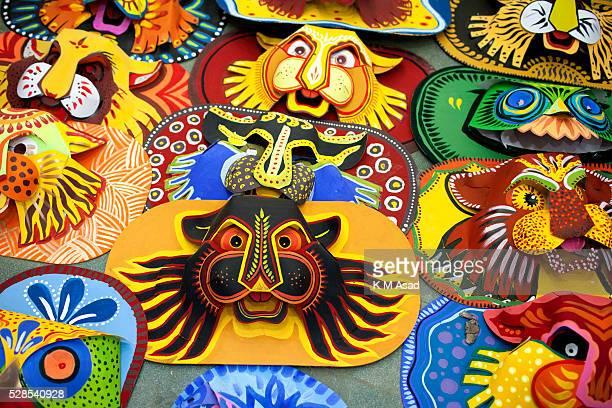CHARUKOLA DHAKA DHAKA BANGLADESH Dhaka University Art Institute student prepare masks for colorful preparation to celebrate upcoming Bengali New Year...
