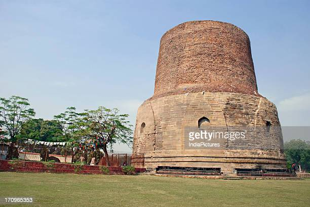 Dhamekh Stupa was built in 500 BC to replace an earlier structure commissioned by the great Mauryan king Ashoka in 249 BC Sarnath Uttar Pradesh India