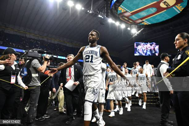 Dhamir CosbyRoundtree of the Villanova Wildcats celebrates with fans after beatin the Kansas Jayhawks in the 2018 NCAA Photos via Getty Images Men's...