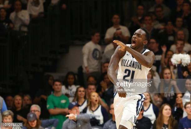 Dhamir CosbyRoundtree of the Villanova Wildcats in action against the Furman Paladins during a game at Finneran Pavilion on November 17 2018 in...