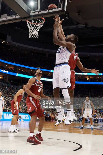 Dhamir CosbyRoundtree of the Villanova Wildcats with a shot near the rim during the Villanova Wildcats game versus the Alabama Crimson Tide in the...