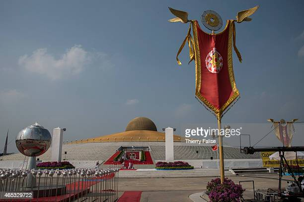 Dhammakaya temple's so-called Cetiya, which has become the venue for mass meditation ceremonies. The Cetiya contains one million Buddha images....