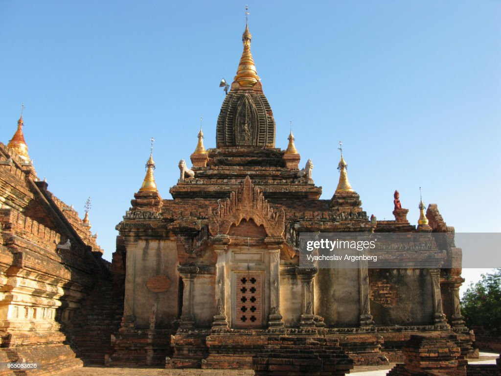 Dhammayazika Pagoda 12th Century Buddhist Temple Bagan Myanmar Stock Photo