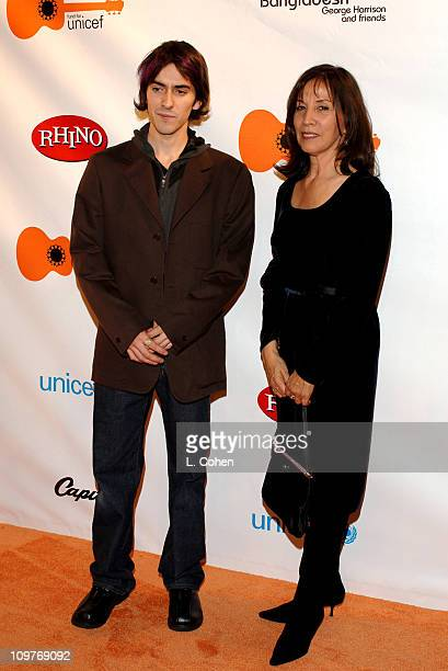 Dhani Harrison and mother Olivia Harrison during The Concert for Bangladesh Revisted with George Harrison and Friends Documentary Gala - Red Carpet...