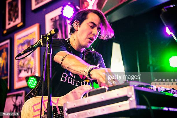 Dhani Harrison performs at the Stella McCartney Autumn 2016 presentation and special performance at Amoeba Music on January 12, 2016 in Hollywood,...