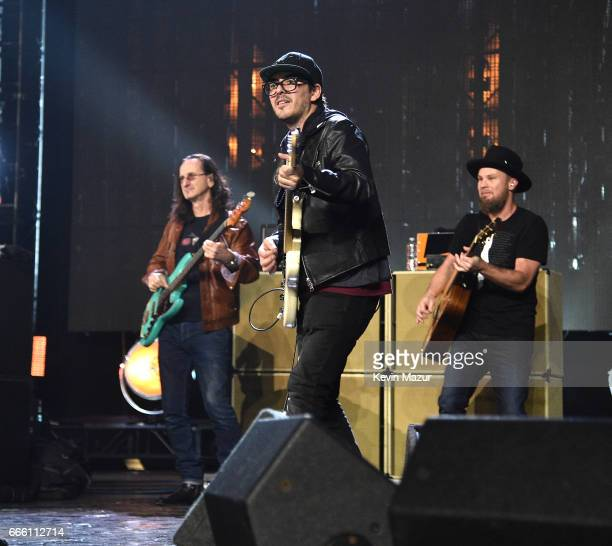 Dhani Harrison performs onstage during the 32nd Annual Rock Roll Hall Of Fame Induction Ceremony at Barclays Center on April 7 2017 in New York City...