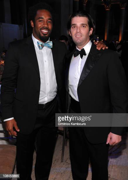 Dhani Jones and Donald Trump Jr attend the 2009 Smile Event presented by Operation Smile at Cipriani Wall Street on May 7 2009 in New York City