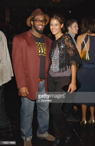 Dhani Jones and Jessica Clark during Alessandro Dell'Acqua Celebrates the Opening of his First US Flagship Store With Public Theater BashFashion on...
