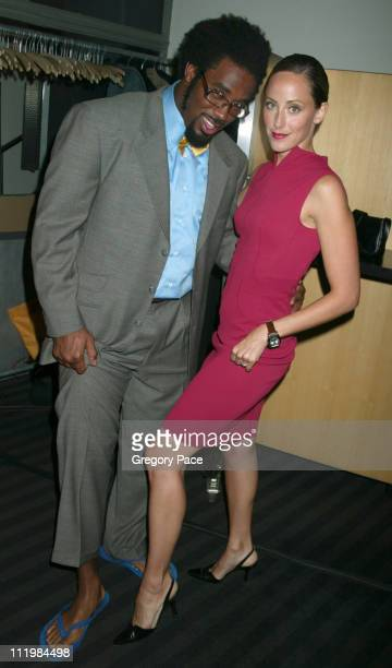 Dhani Jones and Kim Raver during 16th Annual Conde Nast Traveler Readers Choice Awards Inside at The Guggenheim Museum in New York City New York...