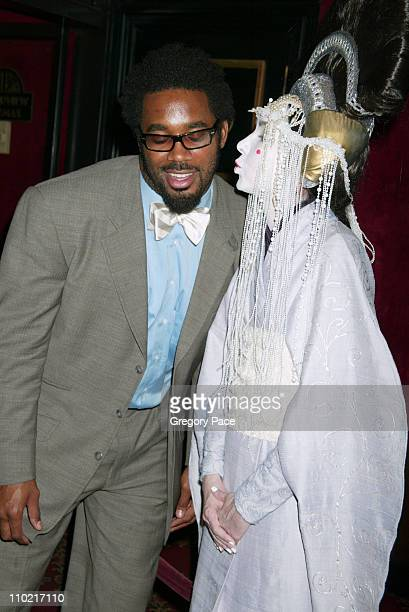Dhani Jones and Queen Amidala during Star Wars Episode III Revenge Of The Sith New York City Benefit Premiere Inside Arrivals at Ziegfeld Theater in...