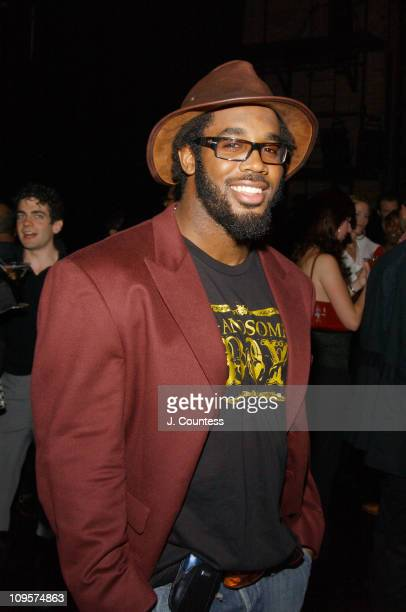 Dhani Jones during Alessandro Dell'Acqua Celebrates the Opening of his First US Flagship Store With Public Theater BashFashion on Stage at The Public...