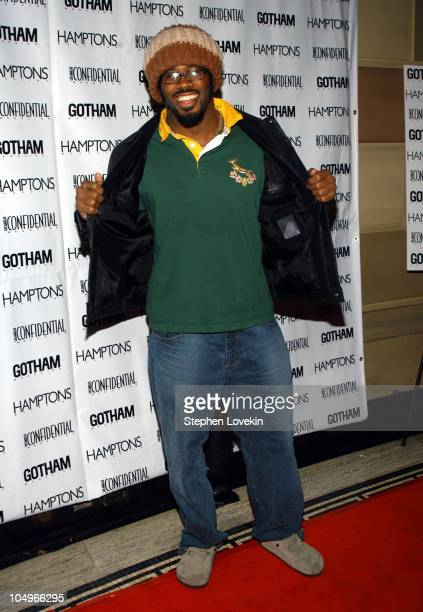 Dhani Jones during Gotham and LA Confidential Magazine Anniversary Party Hosted by Kim Cattrall at Gotham Hall in New York City New York United States