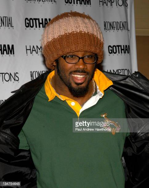 Dhani Jones during Kim Cattrall Hosts the StarStudded Anniversary Celebration of Gotham and LA Confidential Magazines – Arrivals at Gotham Hall in...