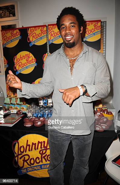 Dhani Jones of the Cincinnati Bengals attends the GBK Gift Lounge at Player's Press PreSuper Bowl Party at Sagamore Hotel on February 3 2010 in Miami...