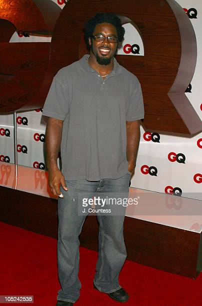 Dhani Jones of the New York Giants during GQ Celebrates September Debut Issue Under New Editor and Chief Jim Nelson at Hudson Studios in New York New...