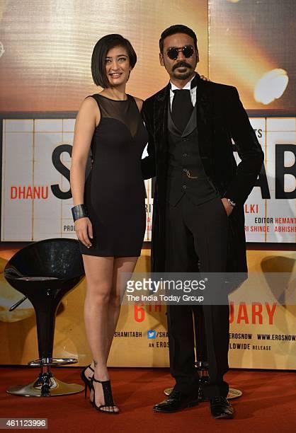 Dhanush and Akshara Haasan at the trailer launch of SHAMITABH