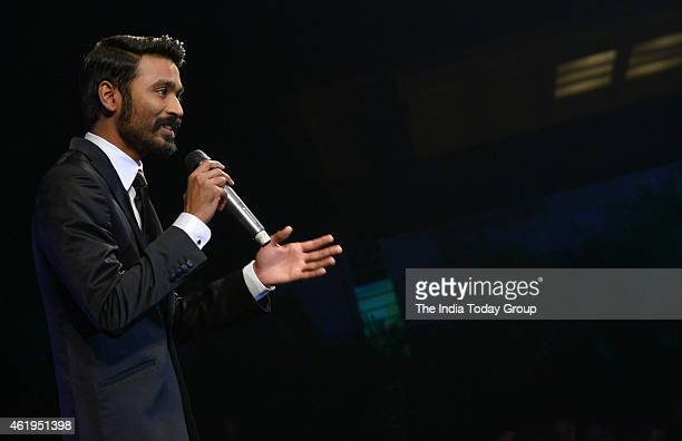 Dhanush at the music launch of Shamitabh and celebrating 1000 films of Ilaiyaaraaja music