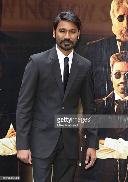Dhanush attends a photocall for 'Shamitabh' at St James Court Hotel on January 27 2015 in London England