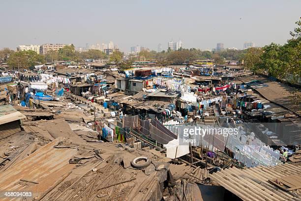 dharavi slum - dharavi stock-fotos und bilder